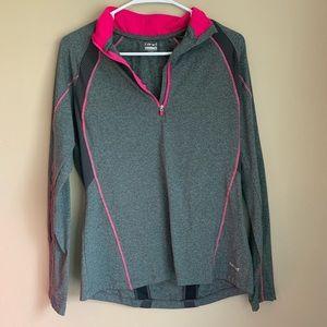 Hind 1/4 zip jacket- Large - Gray & Pink - 000085